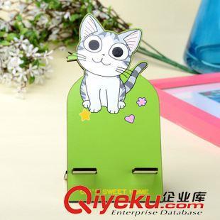 支架 韩版时尚卡通动物手机座 手机架 可爱创意炫彩手机支架小司猫(图