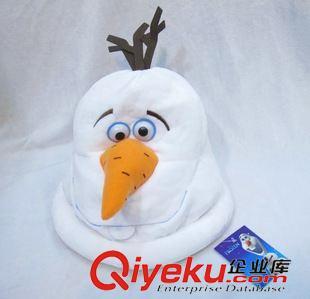 毛绒包包 冰雪奇缘雪人公仔 冰雪皇后雪人帽子olaf奥拉夫雪宝毛绒帽子