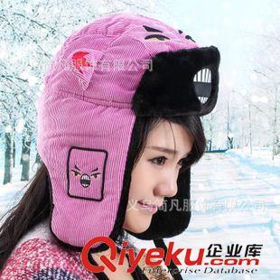 雷锋帽 外贸韩版新款棉帽子女士可爱卡通愤怒小鸟雷锋