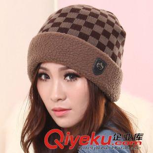 2014男女冬季情侣毛线帽可爱韩版潮绒线户外时尚套头帽棉帽子