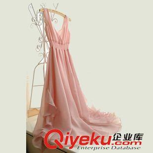 裙子 连衣裙女神夏波西米亚荷叶边拖地长裙高腰吊带雪纺沙滩裙代发