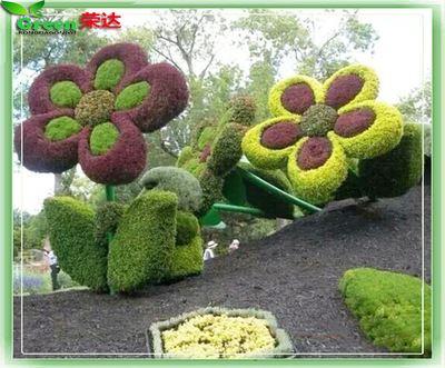 仿真绿雕 仿真大型花朵绿雕 仿真植物雕塑 园林景观工程项目建设 仿真