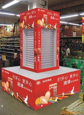 包柱,堆头广告制作 供应商场堆头/超市形象堆头/纸质堆头/食品堆头柜图片