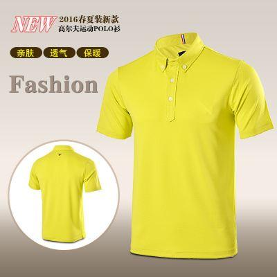 高尔夫服装 2016新款高尔夫球服装 时尚条纹男装 运动t恤衫 丝光棉