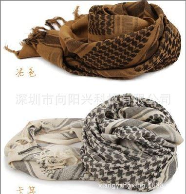 户外生活 厂家直销-特价战术围巾 阿拉伯方巾 野战户外伪装围巾