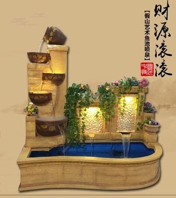 泉韵欧式大型流水喷泉鱼池水景阳台客厅庭院会所招财