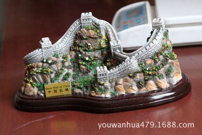 出口产品 中国长城冰箱贴水晶球接受各地旅游景点工艺品纪念品定制